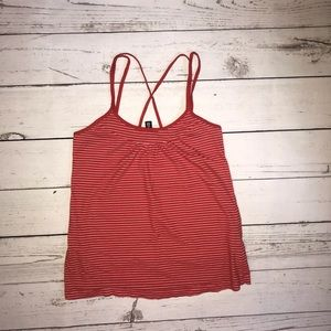 3/$25 Divided by H&M Red & White Stripe Tank 2